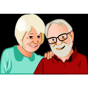 illustration de personnes âgées